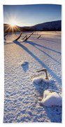 The Long Shadows Of Winter Beach Towel