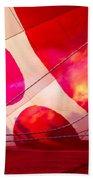 Hearts A' Fire - The Love Hot Air Balloon Beach Towel