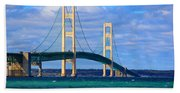 The Mackinac Bridge Beach Towel
