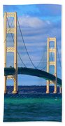The Mackinac Bridge Beach Towel
