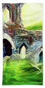 The Magic And Majesty Of Corfe Castle Beach Towel