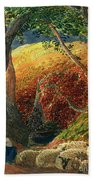 The Magic Apple Tree Beach Towel by Samuel Palmer