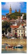 The Magic Of St. Peter Port In Guernsey Beach Towel