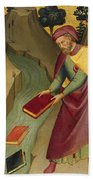 The Magus Hermogenes Casting His Magic Books Into The Water Beach Towel