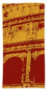 The Majestic Colosseum Of Rome Beach Towel