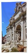 The Majesty Of The Trevi Fountain In Rome Beach Towel