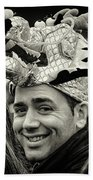 The Man In The Dragon Hat Beach Towel