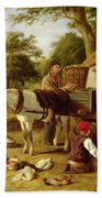 The Market Cart Beach Towel by Henry Charles Bryant