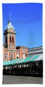 The Market Hall, Market Square, Chesterfield Town, Derbyshire Beach Towel