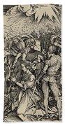 The Martyrdom Of St. Catherine Of Alexandria Beach Towel