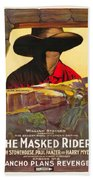 The Masked Rider 1919 Beach Towel
