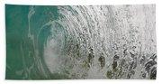 The Massive Backwash Barrel  Beach Towel