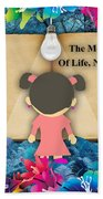 The Meaning Of Life Art Beach Sheet