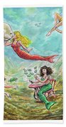 The Mermaids Of Weeki Wachee State Park Beach Towel
