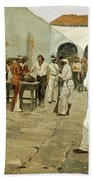 The Mier Expedition-the Drawing Of The Black Bean Beach Towel