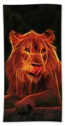 The Mighty Lion Beach Towel