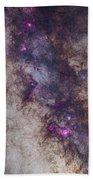 The Milky Way Around The Small Beach Towel