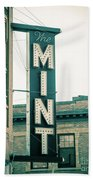 The Mint Classic Neon Sign Livingston Montana Beach Towel