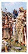 The Miracle Of The Loaves And Fishes Beach Towel