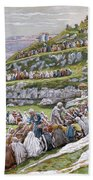 The Miracle Of The Loaves And Fishes Beach Towel by Tissot