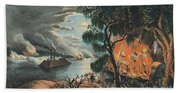 The Mississippi In Time Of War, 1865  Beach Towel
