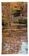 The Monet Bridge Beach Towel