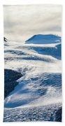 The Monte Rosa Glacier In Switzerland Beach Towel