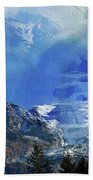 The Mountains Melting Snows Beach Towel