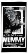 The Mummy 1932 Movie Poster  Beach Towel