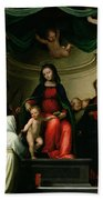 The Mystic Marriage Of St Catherine Of Siena With Saints Beach Towel