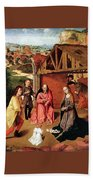 The Nativity By Gerard David  Beach Towel