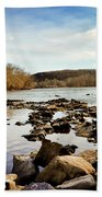 The New River At Whitt Riverbend Park - Giles County Virginia Beach Towel