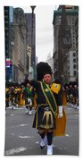 The New York City Police Emerald Society Pipe And Drum Corps Beach Towel