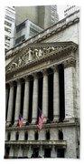 The New York Stock Exchange Beach Towel