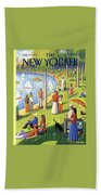 The New Yorker Cover - July 15th, 1991 Beach Towel