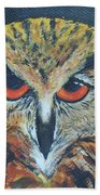 The Night Owl  Beach Towel