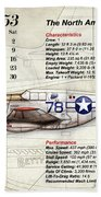 The North American P-51 Mustang V1 Beach Towel