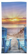 The Ocean Is Calling Beach Towel