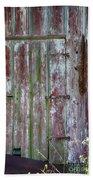 The Old Barn Door Beach Towel