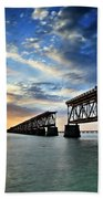 The Old Bridge Sunset - V2 Beach Towel