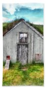 The Old Chicken Coop Iceland Turf Barn Beach Towel