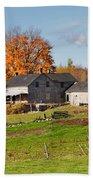 The Old Farm In Autumn Beach Sheet