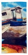 The Old Fishing Boat Beach Towel
