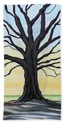 The Stained Old Oak Tree Beach Towel