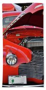 The Old Red Jalopy Beach Towel