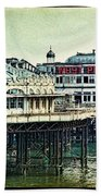 The Old Victorian West Pier Beach Towel