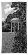 The Old Well At Chapel Hill In Black And White Beach Towel