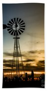 The Old Windmill Beach Towel