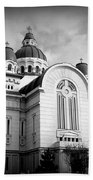 The Orthodox Cathedral And The Saint John The Baptist Church Beach Towel