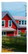 The Other Red House Monhegan Beach Towel